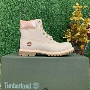 Timberland women's 6IN WP Light Pink nubuck boot